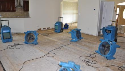 water damage restoration Edens Landing